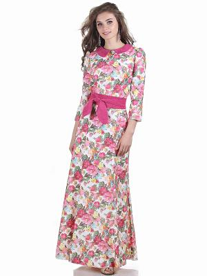 Платье OLIVEGREY. Цвет: розовый, белый