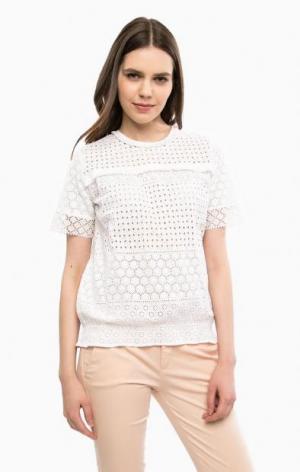Хлопковая блуза с ажурной вышивкой River Woods. Цвет: цветочный принт