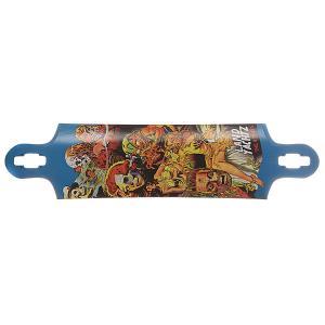 Дека для скейтборда лонгборда  Nine Two Five Deck Assorted 10 x 40.2 (102.1 см) Landyachtz. Цвет: мультиколор,синий