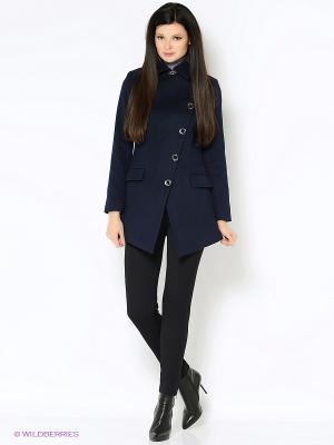 Пальто Garderob. Цвет: темно-синий