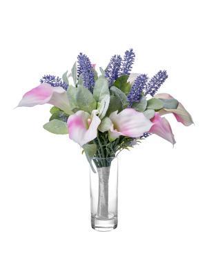 Композиция из искусственных цветов (каллы, лаванда) TERRAFIORI. Цвет: розовый, зеленый, фиолетовый