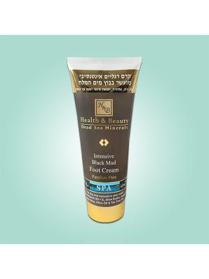 Крем для ног Health & Beauty интенсивный на основе грязи Мертвого моря, 200мл. Цвет: серый