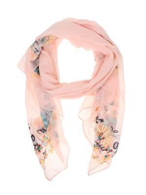 Палантин Migura. Цвет: розовый, бежевый, бирюзовый