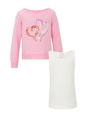 Кофточка S.OLIVER. Цвет: розовый, молочный