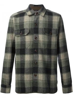 Рубашка в клетку Birdseye Rrl. Цвет: зелёный