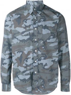 Рубашка с длинными рукавами Sophnet.. Цвет: чёрный