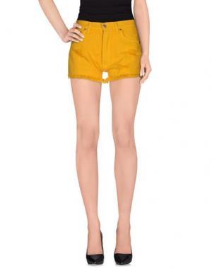 Джинсовые шорты LEVI'S RED TAB. Цвет: желтый
