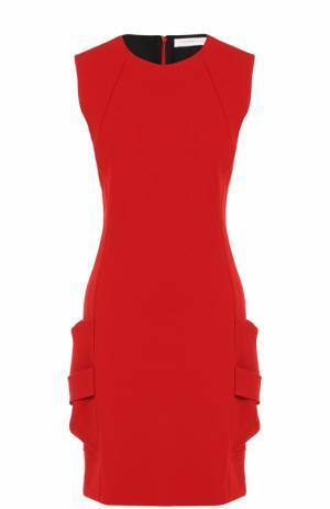 Приталенное мини-платье без рукавов Victoria Beckham. Цвет: красный