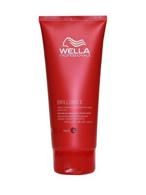 Wella Brilliance Line Бальзам для окрашенных жестких волос 200 мл Professional. Цвет: белый