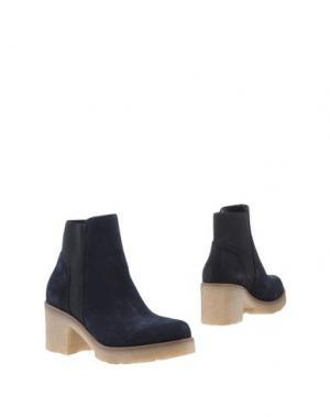 Полусапоги и высокие ботинки UNLACE. Цвет: темно-синий