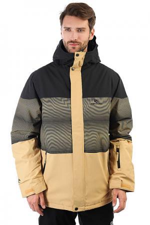 Куртка утепленная Rip Curl. Цвет: желтый,черный,бежевый