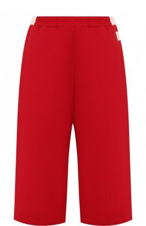 Укороченные хлопковые брюки Y-3. Цвет: красный