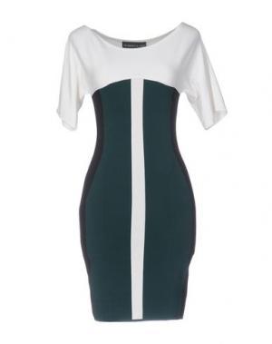 Короткое платье ANTONINO VALENTI. Цвет: темно-зеленый