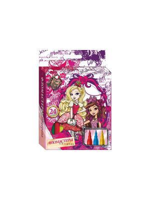 Фломастеры 24 цвета Ever After High фиолетовые картонная упаковка Mattel. Цвет: фиолетовый