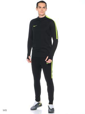 Джемпер M NK SQD DRIL TOP Nike. Цвет: черный, салатовый