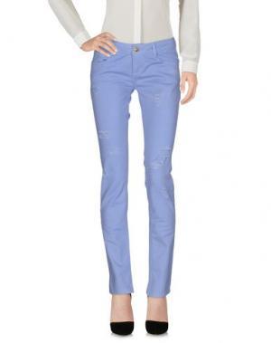 Повседневные брюки LUNATIC. Цвет: небесно-голубой