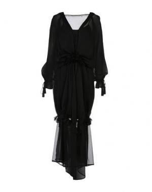 Длинное платье SILVIAN HEACH. Цвет: черный