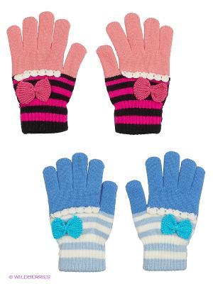 Перчатки FOMAS. Цвет: розовый, черный, голубой, светло-голубой