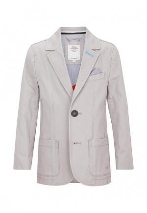 Пиджак s.Oliver. Цвет: серый