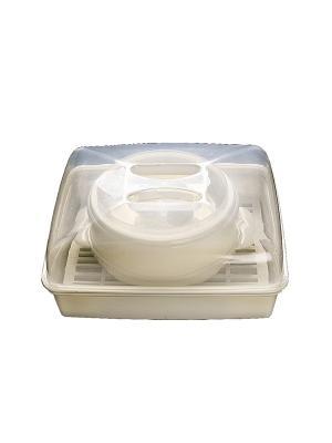 Набор пароварок для микроволновой печи (2 в 1) DEKOK. Цвет: прозрачный