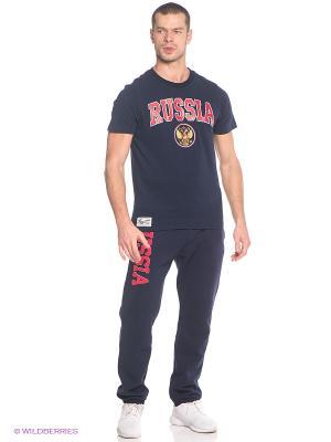 Спортивные брюки Atributika & Club. Цвет: серо-голубой, красный
