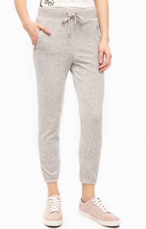 Серые хлопковые брюки джоггеры Juicy Couture. Цвет: серый