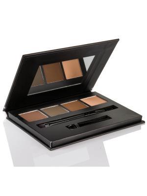 Bellapierre cosmetics TEP014 Компактная палитра для бровей. Цвет: коричневый