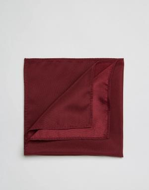 ASOS Бордовый платок для нагрудного кармана. Цвет: красный
