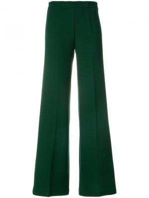Расклешенные брюки P.A.R.O.S.H.. Цвет: зелёный