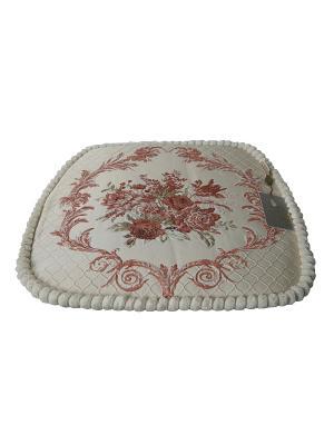 Сидушки, Подушка для стула Гобелен Медальон, 45х45см KAZANOV.A.. Цвет: розовый