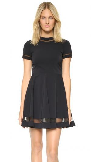 Расклешенное мини-платье Frances alice + olivia. Цвет: белый