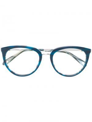 Круглые очки с узором Tiffany & Co.. Цвет: синий