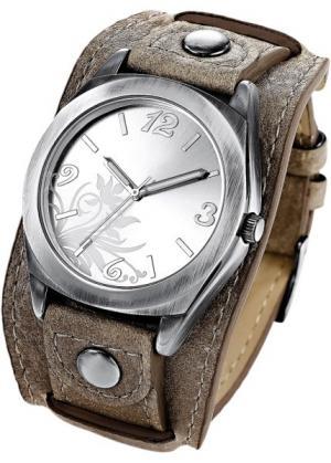 Часы Имке (серо-коричневый) bonprix. Цвет: серо-коричневый