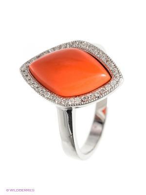 Кольцо BALEX. Цвет: серебристый, коралловый, оранжевый