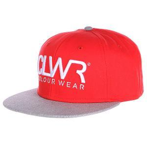 Бейсболка  Cap Red CLWR. Цвет: красный,серый