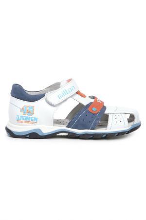 Туфли открытые дошкольные MILTON. Цвет: белый
