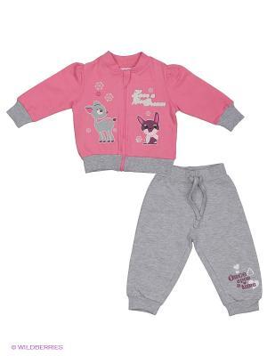 Комплект EWIVA. Цвет: серый, розовый