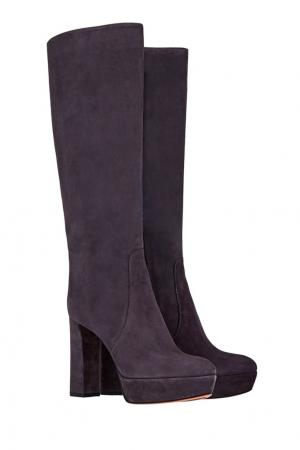 Замшевые сапоги Santoni. Цвет: фиолетовый