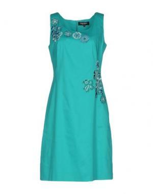 Короткое платье MARTA PALMIERI. Цвет: бирюзовый