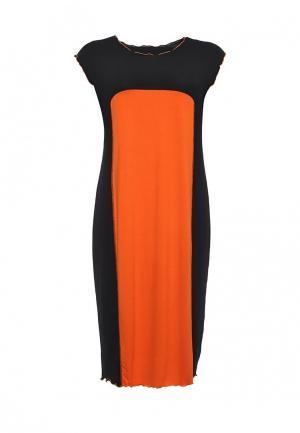 Платье Артесса. Цвет: оранжевый