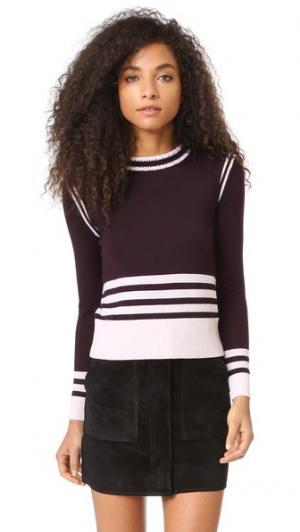 Спортивный свитер в полоску Chinti and Parker. Цвет: темно-красный/пудровый розовый