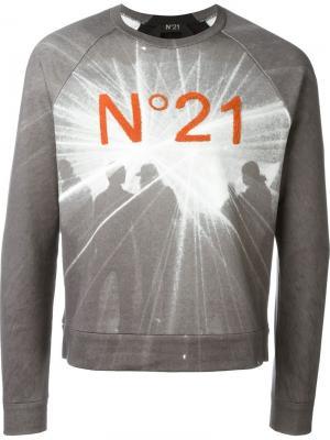 Толстовка с принтом логотипа Nº21. Цвет: серый