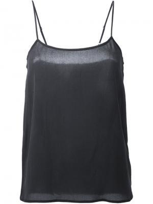 Блузка Cara Cami Equipment. Цвет: чёрный