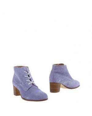 Полусапоги и высокие ботинки L'F SHOES. Цвет: сиреневый
