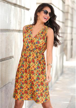 Платье Venca. Цвет: разноцветный