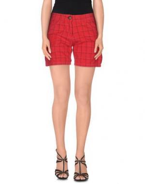 Повседневные шорты EMISPHERE. Цвет: красный