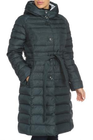 Полуприлегающее пальто с застежкой на молнию и пуговицы Vlasta. Цвет: 4281 темно-синий