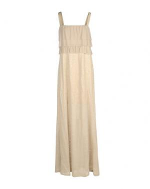 Длинное платье JUST FOR YOU. Цвет: бежевый