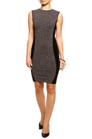 Платье Shes so. Цвет: черно-коричневый