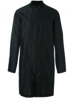 Длинная куртка-бомбер Helmut Lang. Цвет: чёрный